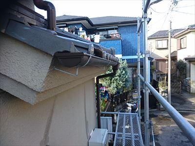 習志野市|雪害による雨樋の撓みを火災保険を使用して交換!現状復旧工事、施工後写真