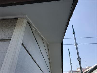 軒天塗装,増し張り