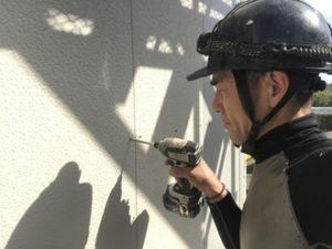 外壁補修の様子