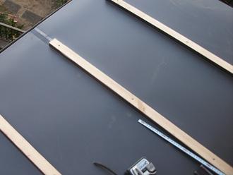 荒川区 屋根葺き替え工事 垂木、屋根材設置(ガルバリウム鋼板)