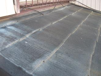 荒川区 屋根葺き替え工事前はスレート