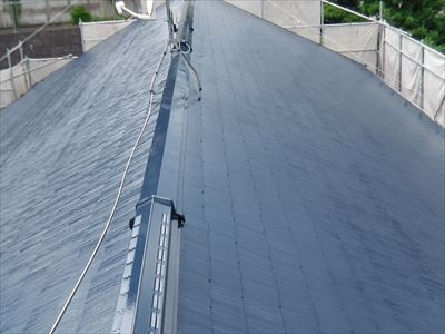 屋根塗装,棟板金交換,完了