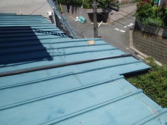川崎市宮前区 下屋の屋根葺き替え工事 工事前の屋根