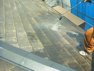 屋根塗装洗浄
