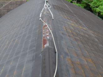 屋根塗装,棟板金交換,補修前