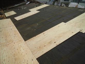 川崎市中原区 屋根葺き替え コンパネ設置