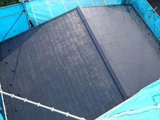 下屋屋根塗装完了