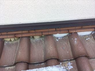下屋漆喰補修工事