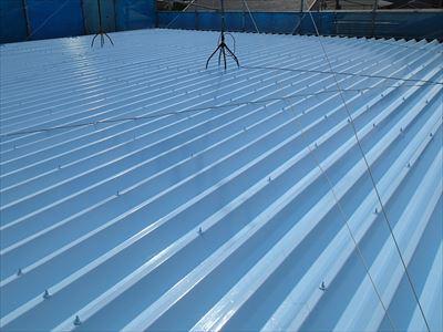 折板屋根塗装工事完了