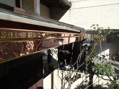 銅製雨樋交換.完了