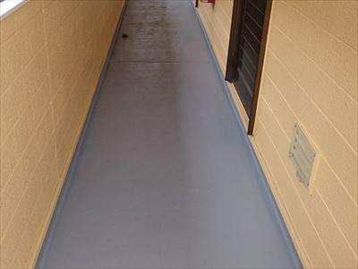 塗り床,IP速乾フロア,施工完了