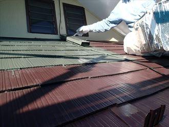 下屋屋根塗装