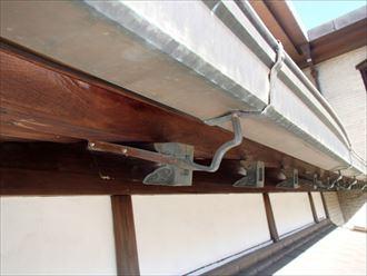 銅製雨樋,穴あき