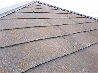 川崎市幸区|棟板金の固定補強にビス留めを行って屋根塗装で保護!、施工前写真
