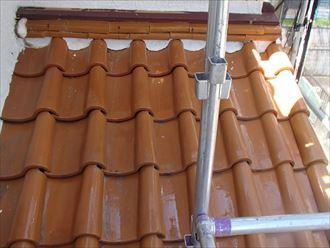 下屋根漆喰詰め直し工事