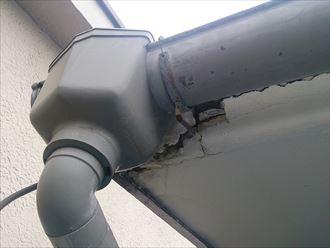 雨樋,鼻隠し,補修施工前