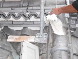 江東区 新しい漆喰を詰める