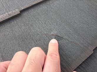 屋根材表面の膨れ