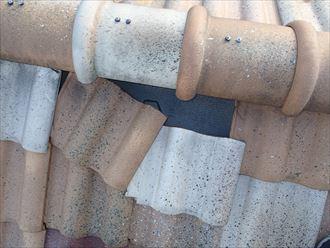 墨田区漆喰の剥がれからの雨漏り
