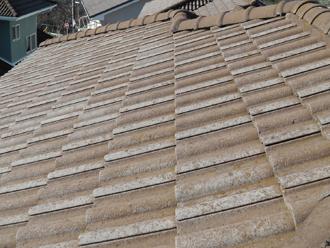 川崎市幸区 モニエル瓦の塗装 工事前