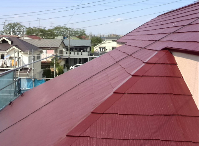 川崎市中原区 屋根塗装完了