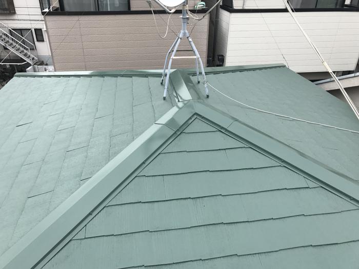遮熱塗料による屋根塗装、完成