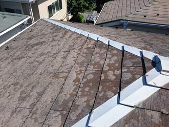 横浜市磯子区 スレートが傷んでいる屋根