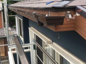 川崎市幸区でエスロンΣ90を使った雨樋交換工事