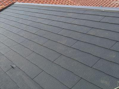 コロニアルへの屋根葺き替え工事