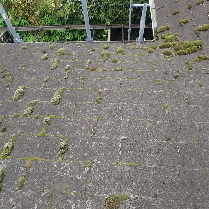 君津市 工事前の屋根の劣化