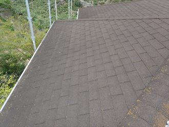 君津市で、初回の屋根リフォームは屋根カバー工法、2回目は屋根葺き替え、施工前写真
