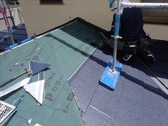 君津市 新規屋根材設置