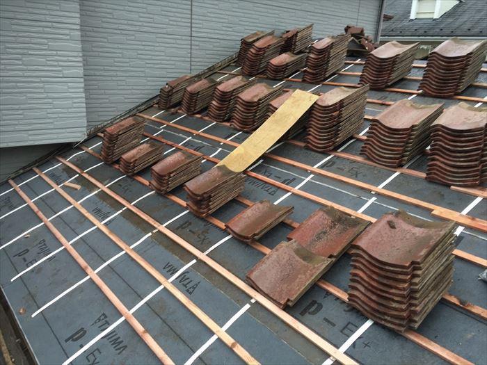 屋根の桟木
