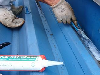 江戸川区 シリコンシーラントを使って雨漏り補修