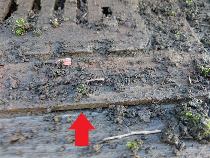 排水ドレンの不陸