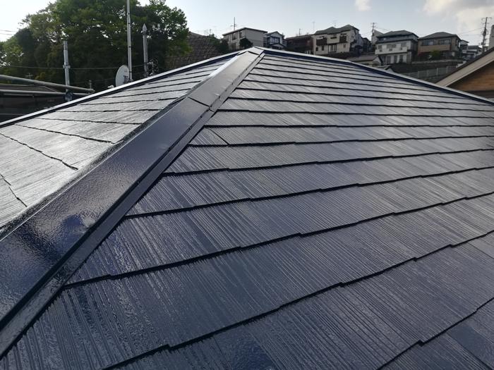 相模原市中央区 ファインパーフェクトベストを使った屋根塗装 完了