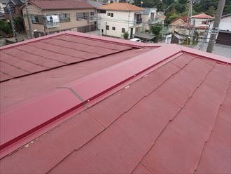 袖ケ浦市で台風で被害を受けやすい棟板金をシーズン前に交換、施工後写真
