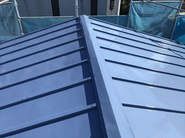 サーモアイによる屋根塗装完了