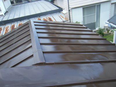 金属屋根塗装後