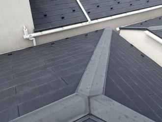 屋根カバー工法前スレート屋根