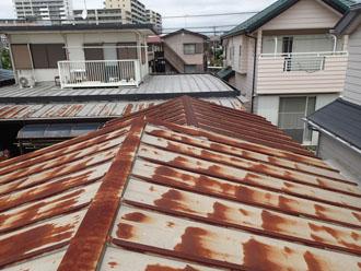 金属屋根塗装前