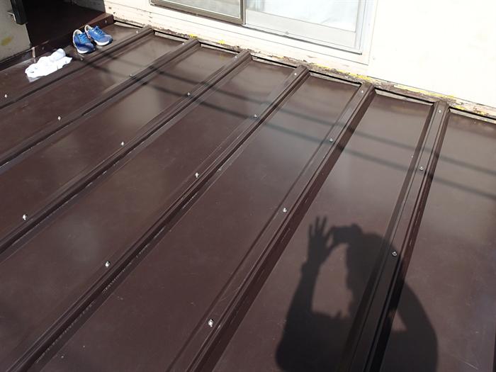 カバールーフ455による屋根カバー工法