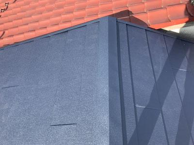 スレート屋根カバー工法後後
