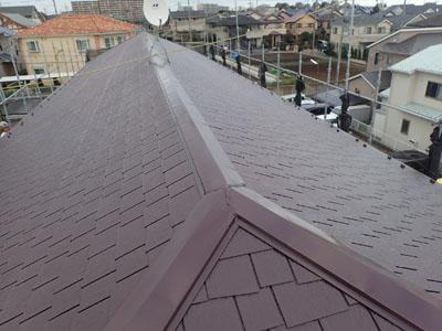 屋根塗装でリフレッシュされた屋根