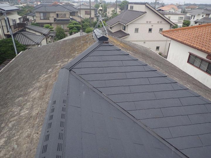 部分的な屋根葺き替え完成