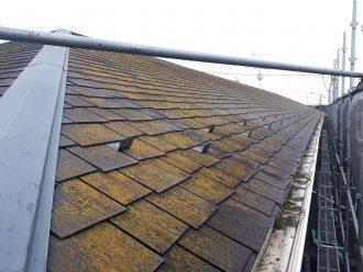 高圧洗浄前の汚れた屋根