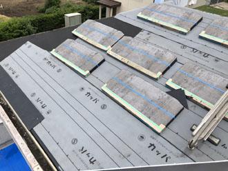スレート屋根材の設置
