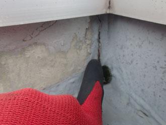 シート防水の亀裂