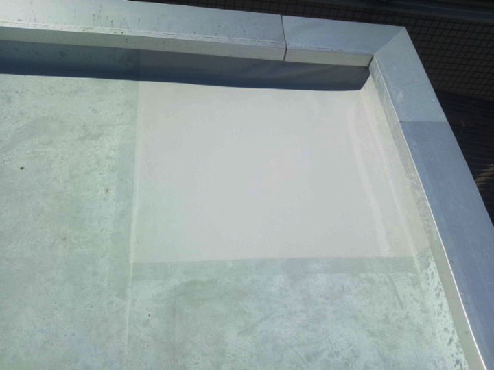 竣工、ウレタン塗膜防水