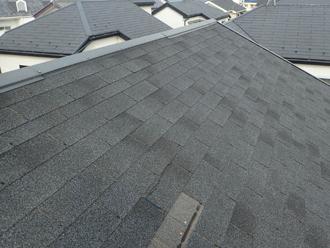 屋根の被害は剥がれのみ
